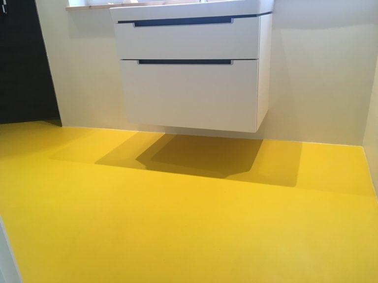 ComfortFloor, gul badeværelses gulv