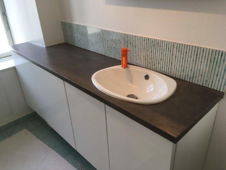 Microcement, håndvask