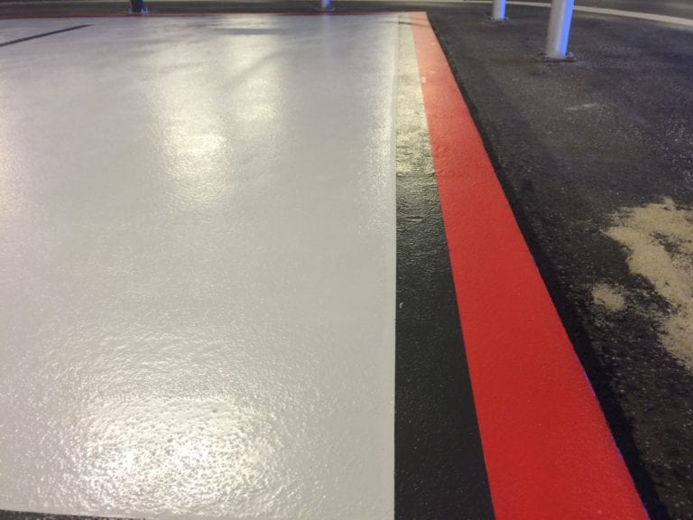 Parkering, skinnende gulv overflade