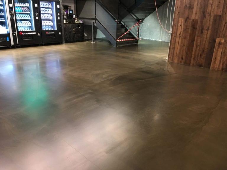 Design gulve, opholds lokale med trappe