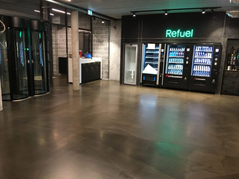 Design gulve, opholds lokale med drikkevare