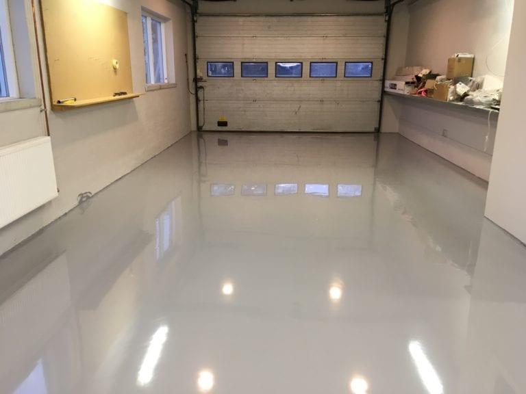 Epoxy gulv, garage
